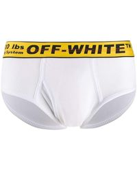 Off-White c/o Virgil Abloh Industrial Logo Waistband Briefs - White