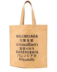 Balenciaga Tote Bag M International Logo - Multicolour