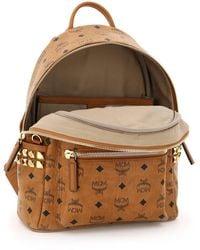 MCM Stark Visetos Backpack With Side Studs - Brown