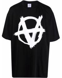 Vetements Anarchy-print T-shirt - Black