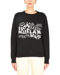 Maison Margiela Crew Neck Sweatshirt - Black