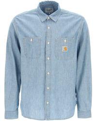 Carhartt Clink Denim Shirt S Cotton - Blue