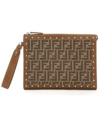 Fendi Ff Motif Clutch Bag - Multicolor