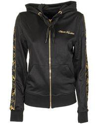 Moose Knuckles Sweatshirt With Hood And Front Zip - Black