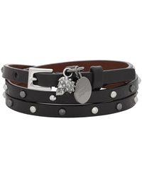 Alexander McQueen Skull Studded Bracelet - Black