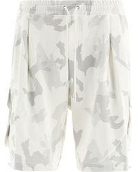 Dolce & Gabbana Camouflage Cargo Shorts - White