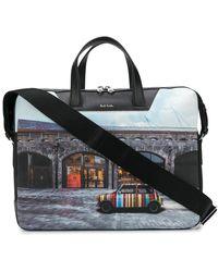Paul Smith Shop Front Briefcase - Black