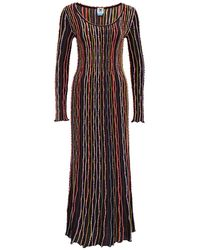 M Missoni Long Multicolour Striped Dress