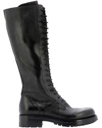 "Strategia ""boston"" Combat Boots - Black"