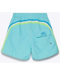 "Sundek 14"" Waterfall Blue Swim Shorts"