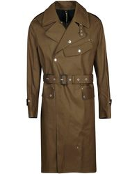 Mackintosh Army Green Cotton Trench Coat