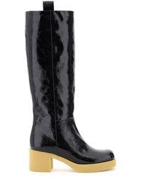 Miu Miu Tech Naplak Boots - Black