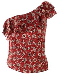 Étoile Isabel Marant Floral Thomy Top - Red