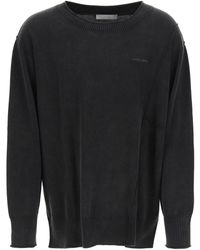 A_COLD_WALL* Essentials Crewneck Sweater With Logo Embroidery S Cotton - Black