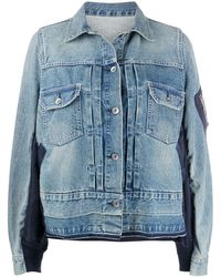 Sacai Relaxed-fit Denim Jacket - Blue
