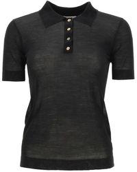 Nanushka Hatti Knitted Polo Shirt - Black