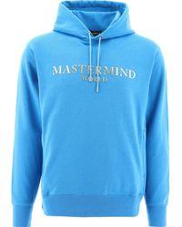 """MASTERMIND WORLD """"mastermind"""" Hoodie - Blue"""