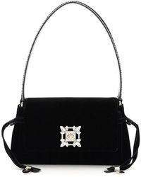 Roger Vivier Miss Vivier Mini Bag Crystal Buckle - Black
