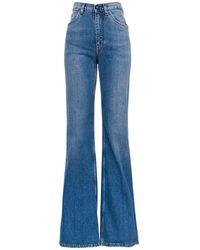 Etro Violet Flared Jeans In Denim - Blue