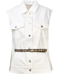 Stella McCartney Gilet Jeans Bianco - White