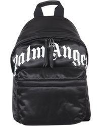 Palm Angels Curved Logo Backpack - Black