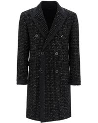 Amiri - Double-breasted Boucle' Coat With Lame' - Lyst