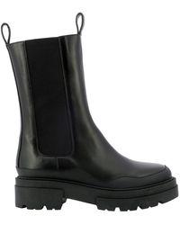 Fabiana Filippi Elasticated Side-panel Boots - Black