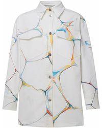 Stella McCartney White Marble Jacket - Blue