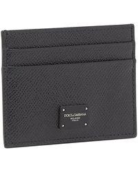Dolce & Gabbana Calf Credit Card Holder - Black