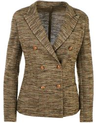 Eleventy Green Double-breasted Jacket