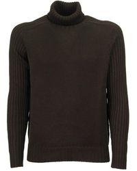 Tagliatore Turtleneck Wool Jumper - Brown