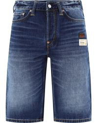 "Evisu ""free Hand"" Shorts - Blue"