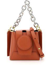 Yuzefi Daria Mini Bucket Leather Bag - Brown
