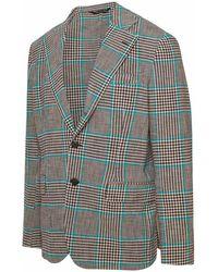 Brian Dales Multicolour Blazer - Brown