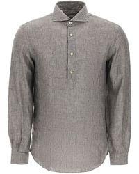 Vincenzo Di Ruggiero Linen Shirt - Grey