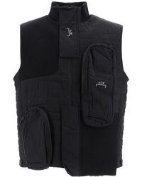 A_COLD_WALL* Bimaterial Asymmetrical Vest - Black