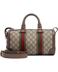 Gucci Duffle GG Supreme Bag - Brown