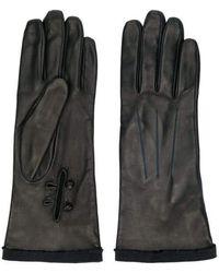 Lanvin Leather Gloves - Black