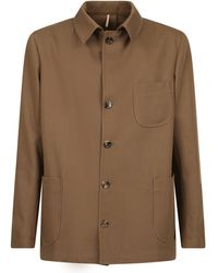 Dell'Oglio Wool And Cotton Jacket - Natural