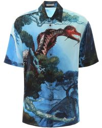 Valentino Dragons Garden Shirt - Blue