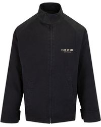 Fear Of God Lightweight Zipped Jacket - Black