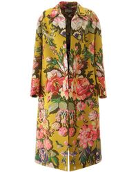 Dries Van Noten Oversized Jacquard Coat - Multicolor