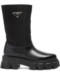 Prada Combact Boots 40 - Black