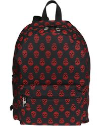 Alexander McQueen Black And Red Canvas Backpack