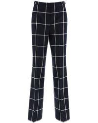 Gabriela Hearst Leda Check Trousers - Blue