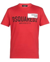 DSquared² - T-shirts And Polos Red - Lyst