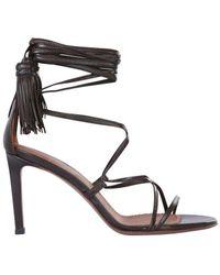 L'Autre Chose Tassels Heel Sandals - It37 / Brown