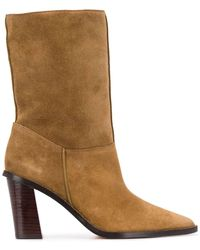 KENZO K Line Shearling Ankle Boots - Brown