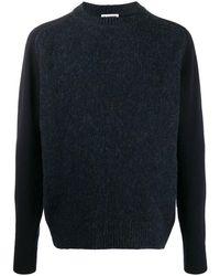 Jil Sander Crew-neck Wool Sweater - Blue
