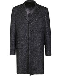Ferragamo Black Cotton Blend Coat